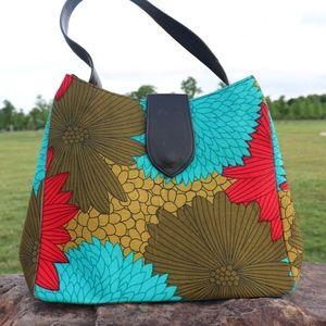 Multicolored African Print Bag (ABI ESO)